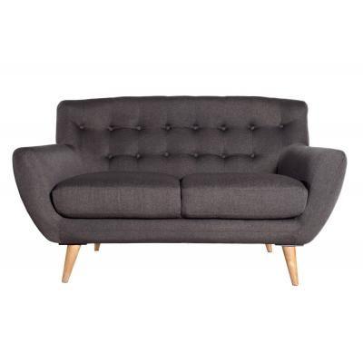 Kétszemélyes szövet kanapé, antracit - RUE DU BAC